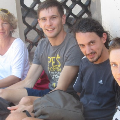 At the Amasiko Home_With Slovenian Buddies Cropped